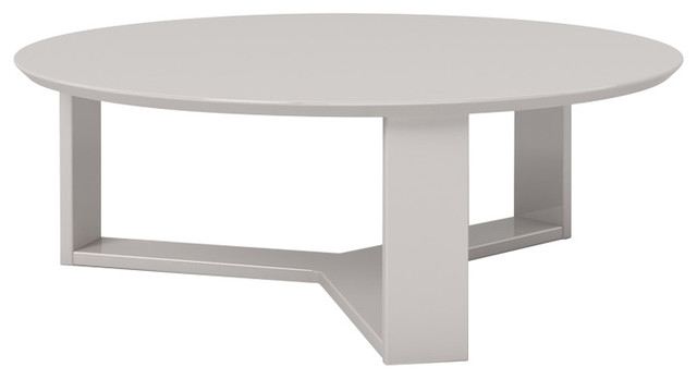 Manhattan Comfort Madison 1.0 35.78 Round Accent Coffee Table, Off White.