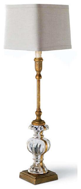 Parisian Glass Buffet Lamp.