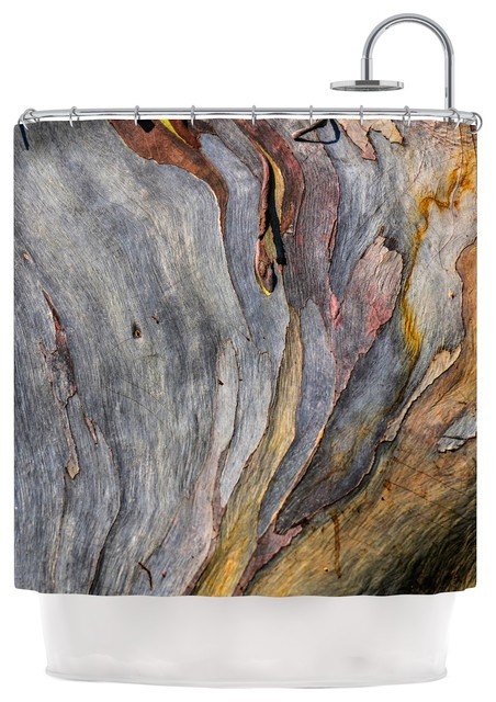 brown and grey shower curtain.  Milky Wood Shower Curtain by Susan Sanders Gray and Brown contemporary shower