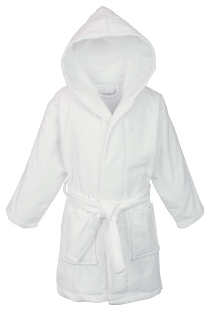 217cd2ea8b Kids Hooded Terry Velour Robe - Transitional - Bathrobes - by Bare ...