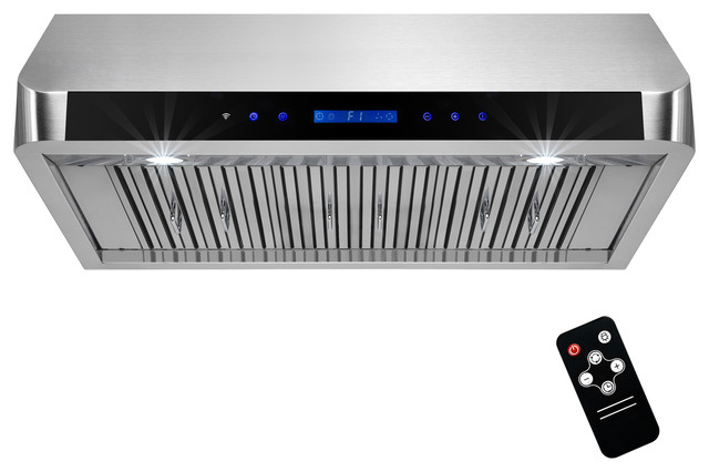"Akdy 36"" Touch Panel Cooking Fan Stainless Steel Under Cabinet Range Hood."