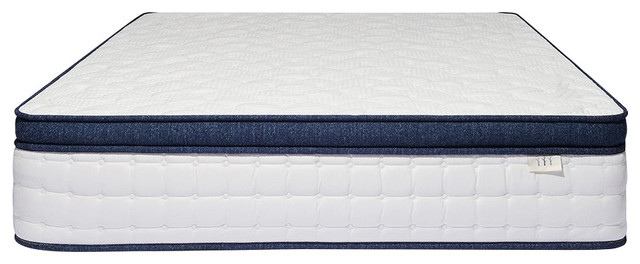 Brentwood Home Del Mar Wrapped Innerspring Mattress, Queen.