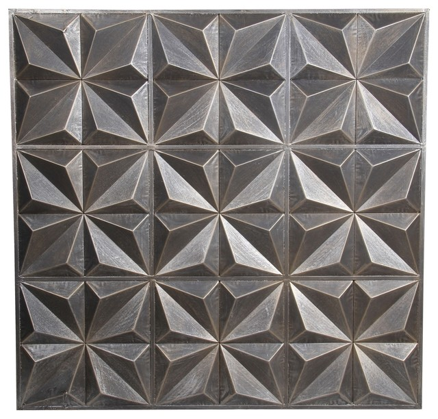 White Metal Wall Decor privilege international silver metal wall decor - contemporary