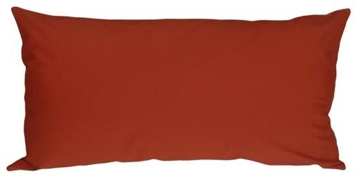 Pillow Decor - Caravan Cotton Rust 9 x 18 Throw Pillow