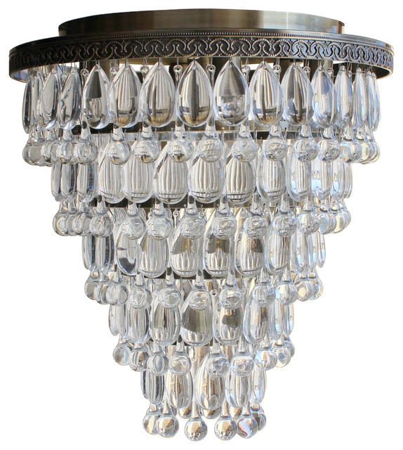 Flush Chandelier Celeste 32 flush mount glass drop crystal chandelier antique brass weston 7 light flush mount glass drop chandelier antique brass audiocablefo
