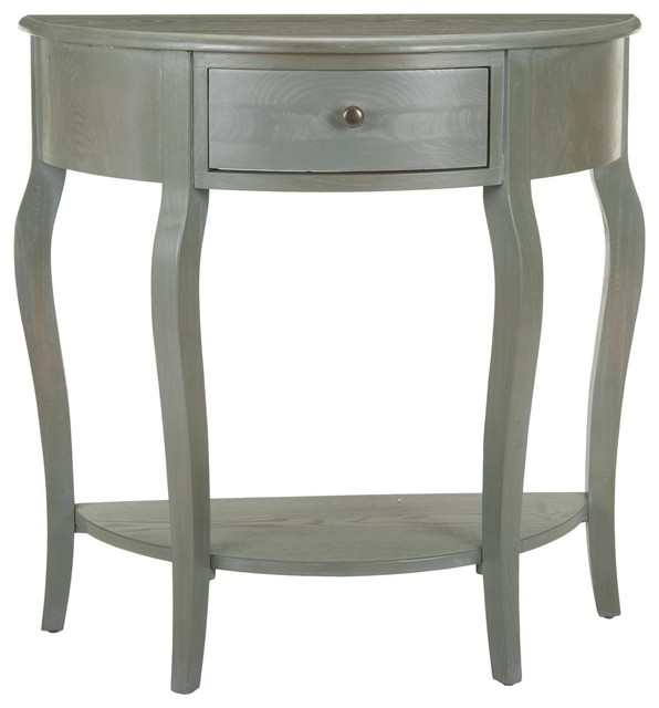 Jan Demilune Small Console Transitional Console Tables