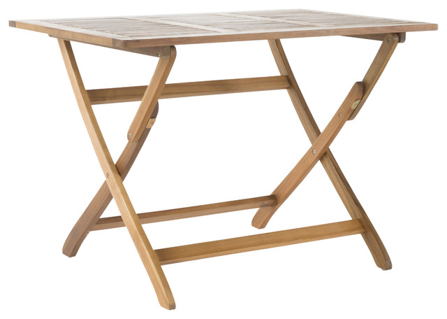 St Nevis Outdoor Acacia Wood Foldable Dining Table Contemporary