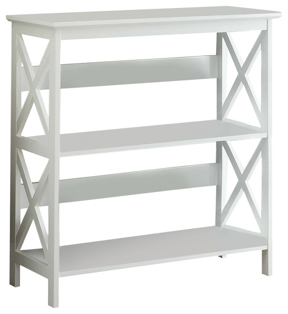 Oxford 3-Tier Bookcase, White.