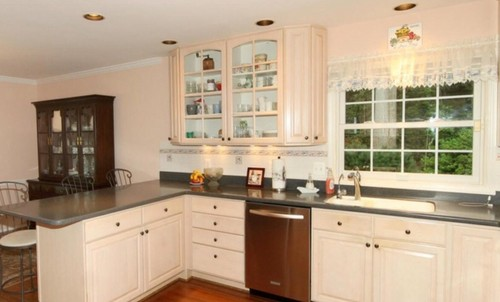 North Facing Kitchen Oak Cabinets Wall Color