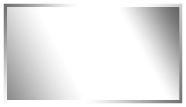 """Milenia Frameless Beveled Mirror With Hooks, 20""""x30""""."""