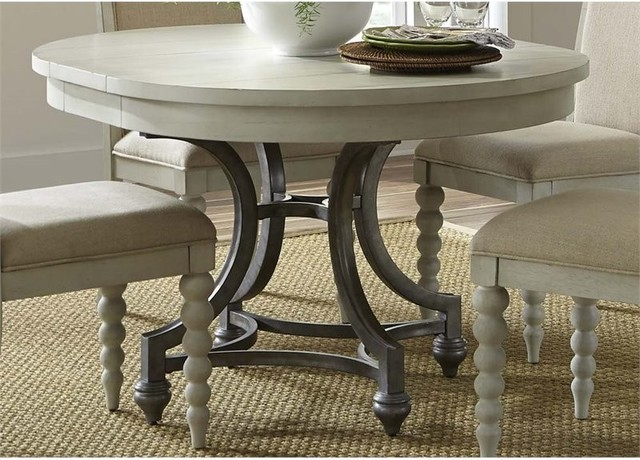 Liberty Furniture Harbor View Iii Round Dining Table, Dove Gray.