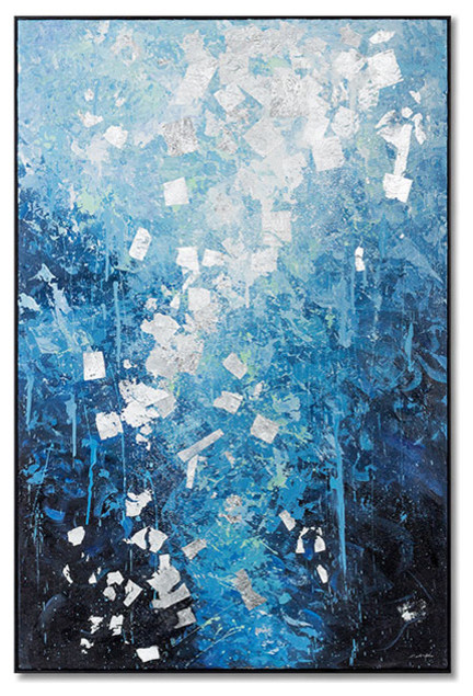"""""""Shore of the Sea"""" Abstract Artwork Painting 32x48"""" Set B"""