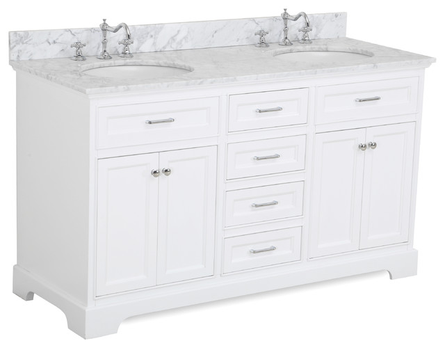 Aria 60 Bath Vanity Transitional Bathroom Vanities And Sink Consoles By Kitchen Bath Collection Houzz
