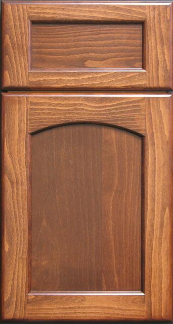 European Steemed Beech Radius-arched Shaker Cabinet Door ...