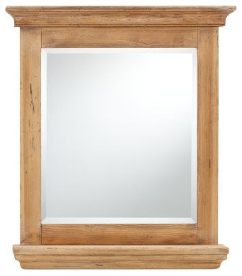 reclaimed wood mirror with shelf traditional 15214