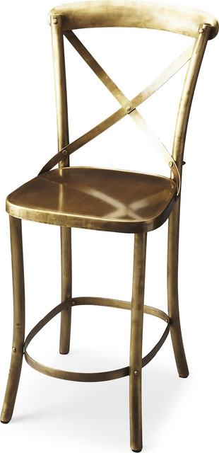 Butler Bennington Bar Stool Antique Gold View In Your