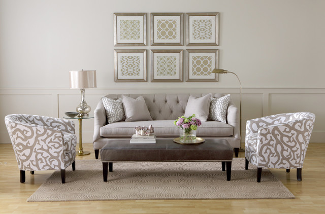 Boston Interiors Furniture Accessories Camby Sofa Traditional Living Room