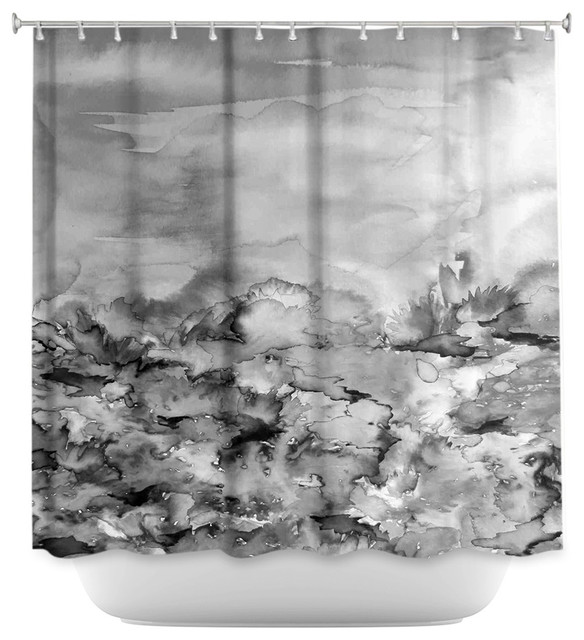 DiaNoche Designs Shower Curtain By Julia Di Sano Into Eternity Greyscale Contemporary Curtains