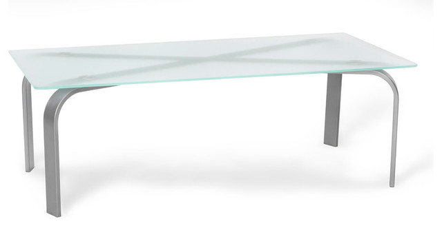 Urban Designs Symphony Coffee Table With Tempered Frosted Glass    Contemporary   Coffee Tables   By Urban Designs, Casa Cortes