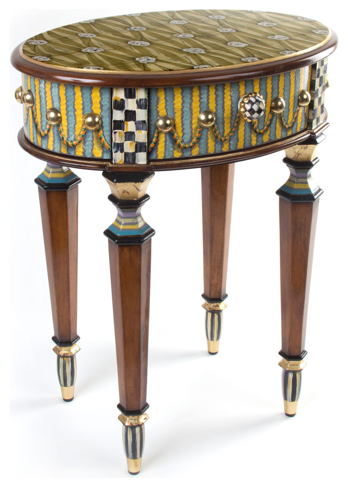Boutonniere Oval Accent Table Mackenzie Childs