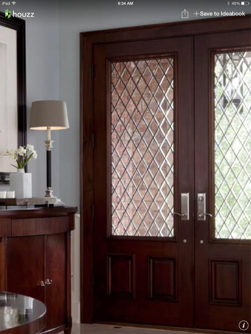 For a solid front door, what is better? Solid wood front door in knott