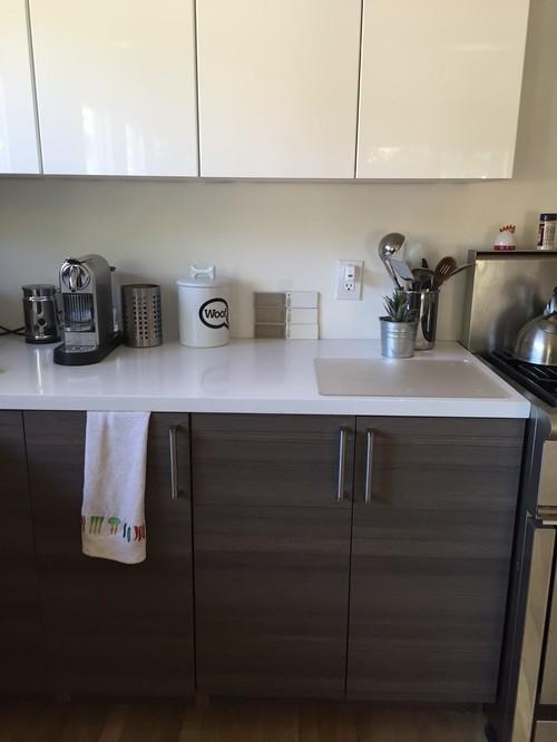 please! backsplash help for contemporary white/grey kitchen