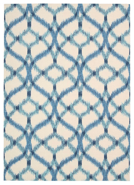 "Waverly Sun & Shade Snd05 7&x27;9""x10&x27;10"" Aegean Area Rug 14788."