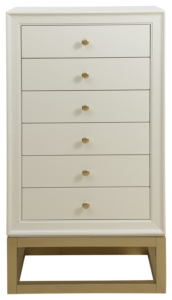 Home Fare Modern Six Drawer Jewelry, Home Decorators Jewelry Armoire