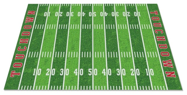 Football Field Rug Contemporary Kids Rugs