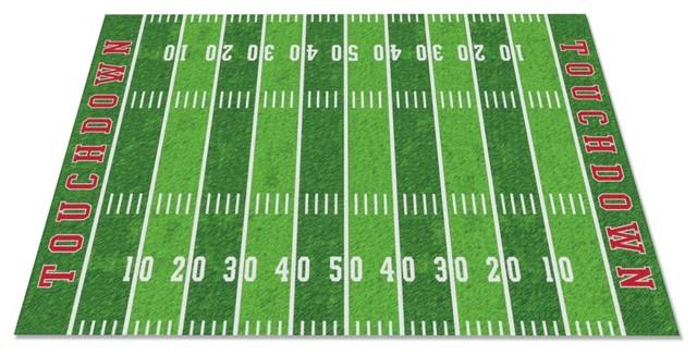 Football Field Rug Contemporary