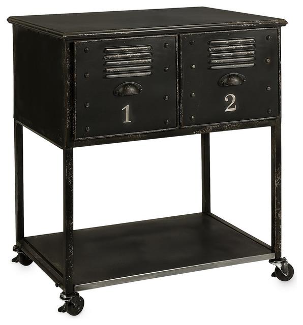 Alastor 2 Drawer Rolling Table Industrial Bar Carts