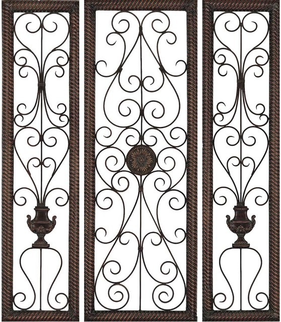 Rusty Vine Trellis, Set Of 3.