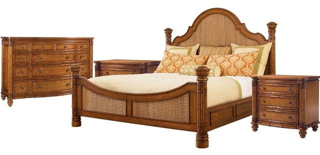 Tommy Bahama Home Island Estate Round Hill 4-Piece Bedroom Set 1,  California Kin