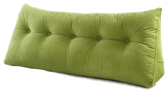 Wedge Pillow Headboard Daybed Cushion Backrest Triangle Corner Pillow Green