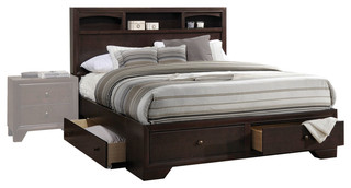 Acme Madison II Queen Bed With Storage, Espresso