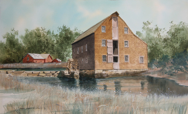 James Feriola Old Sawmill Watercolor Painting