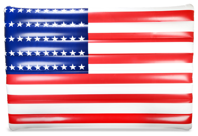 American Flag Inflatable Premium Quality Giant Lounger Pool Float.