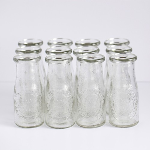 Small Glass Milk Bottles Traditional By Bake It Pretty