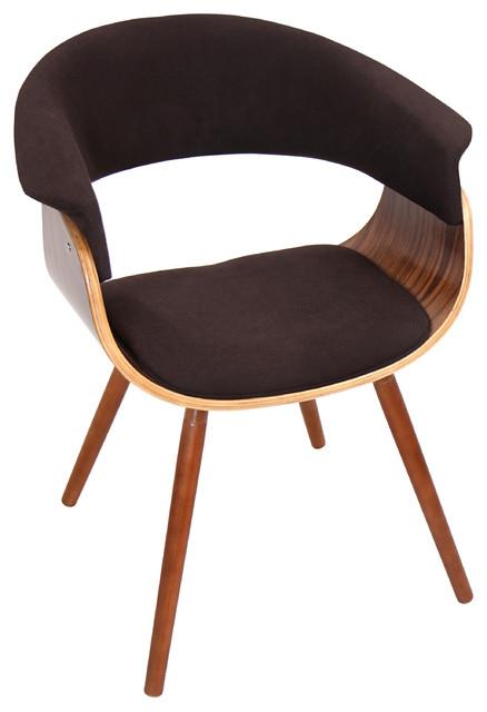 Vintage Flair Mid-Century Modern Counter Chair, Espresso.