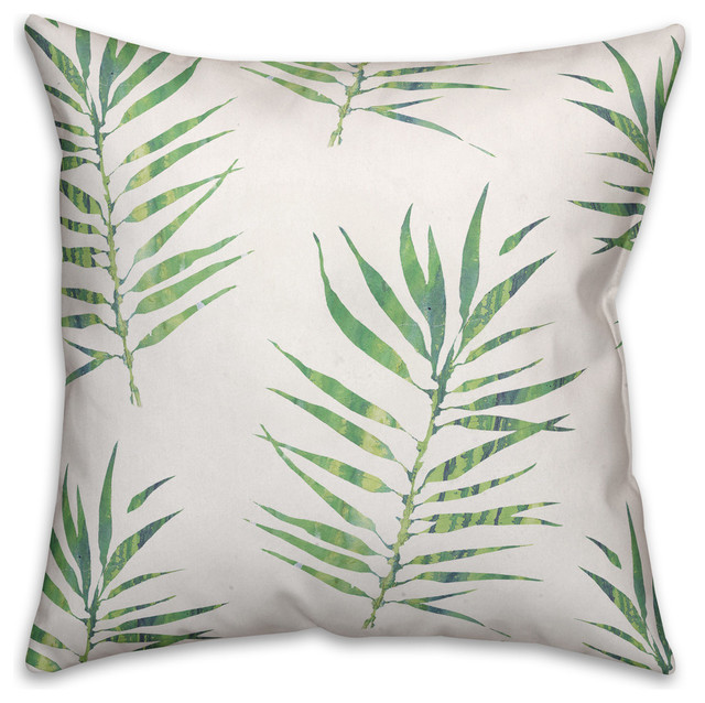 Cool Palm Leaf Throw Pillow Cover 18X18 Ocoug Best Dining Table And Chair Ideas Images Ocougorg