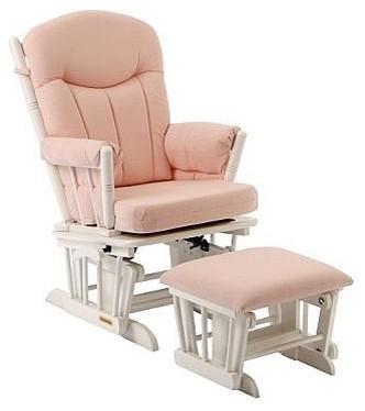 shermag 37908cb 1015 glider rocker ottoman white. Black Bedroom Furniture Sets. Home Design Ideas