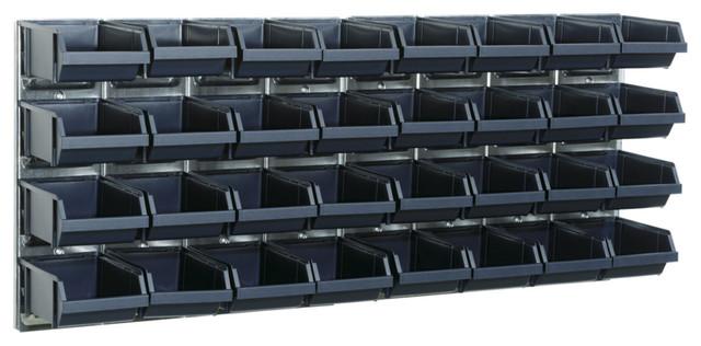 Raaco Bin Wall Panel With 32 Bins, Set of 2