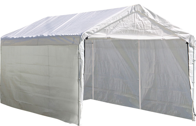Super Max 10&x27;x20&x27; White Canopy Enclosure Kit Fits 2 In. Frame.