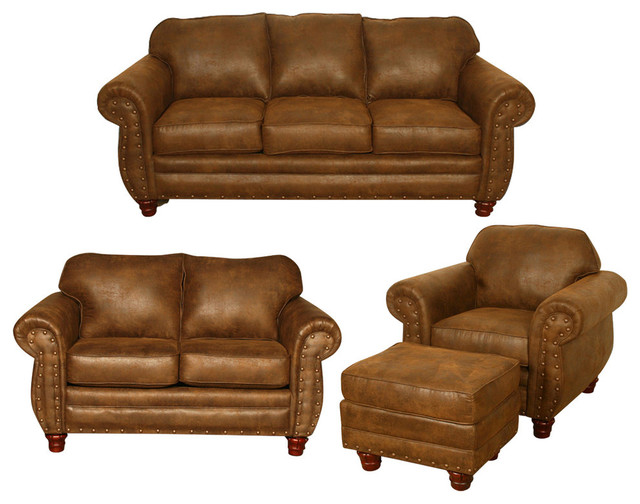 Sedona, 4 Piece Set With Sleeper Traditional Living Room Furniture Sets Part 36