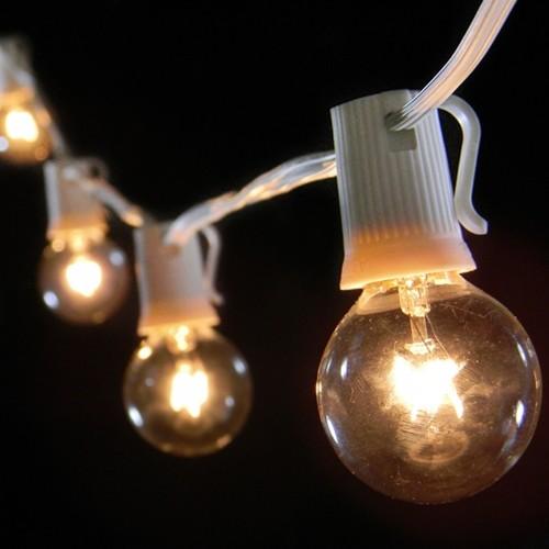 Globe string lights white wire aloadofball Images