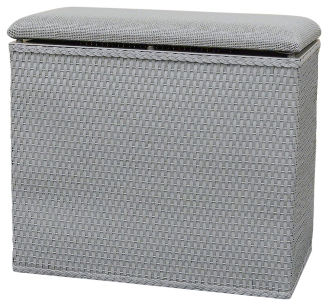 Lamont Home Barrington Bench Hamper, Gray.