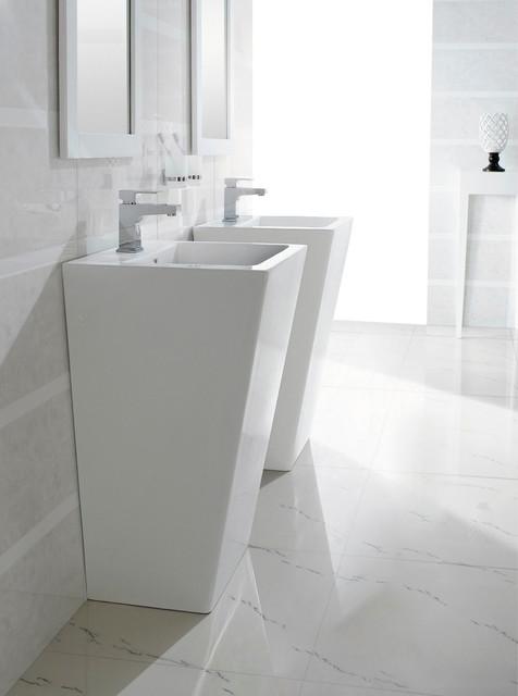Bresica   Modern Bathroom Pedestal Sink bathroom sinks. Bresica   Modern Bathroom Pedestal Sink