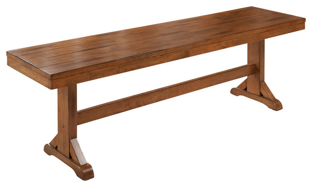 Wood Dining Bench, Brown.