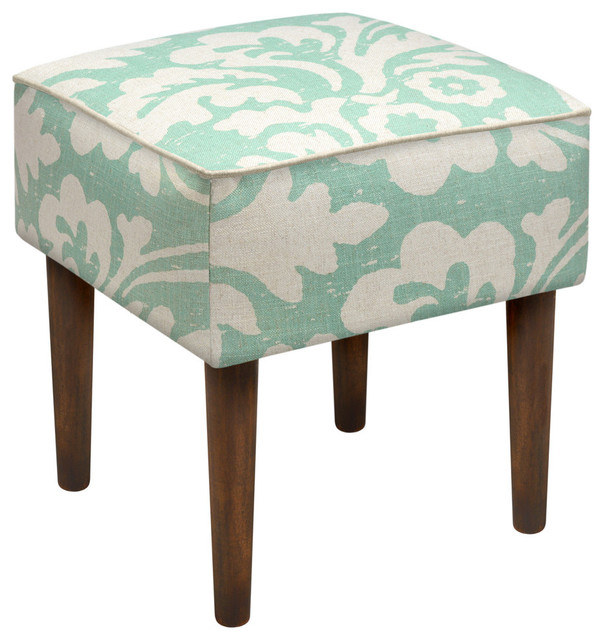 Jacobean Floral Modern Vanity Stool Contemporary Vanity Stools And Benches By 123 Creations