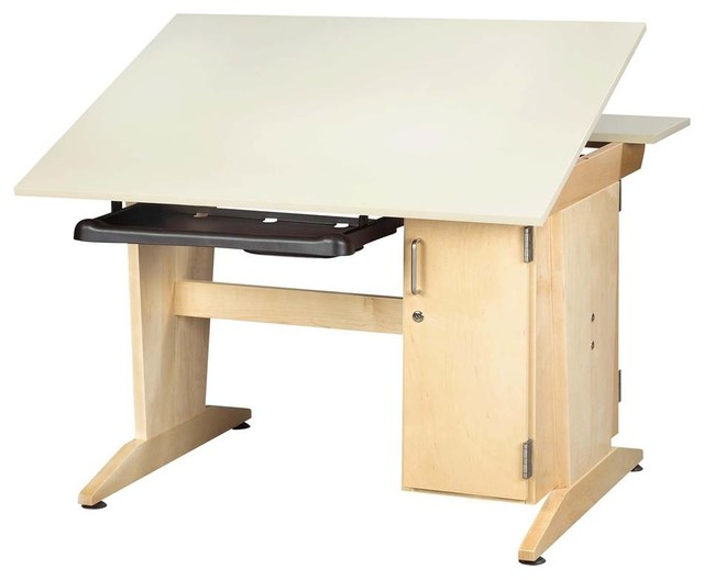 Graphics Drafting Table With Keyboard Tray.